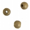 Wooden Bead Round 6mm Gold Lacquered